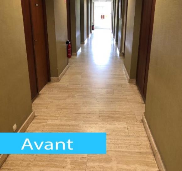 Modernisation d'un couloir  : revêtement de sol et murs